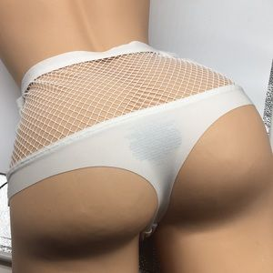 L Victoria's Secret High Waist Thong Panty White